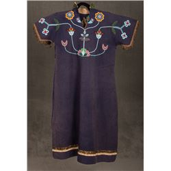 "Crow Beaded Woman's Dress, 45"" long"