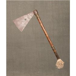 "Missouri War Axe Attributed to the Sauk & Fox, 23 ½"" tacked haft"
