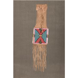 "Blackfeet Beaded Pipebag, 34"" long"