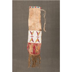 "Sioux Beaded Pipebag, 34"" long"