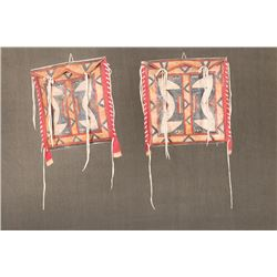 "Matching pair of Northern Plains Parfleche Bags, 13 ½"" x 13 ½"""