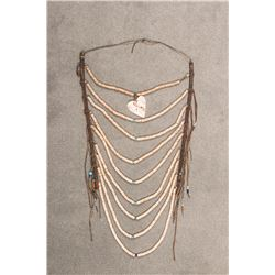 "Northern Plains Beaded Heishi Loop Necklace, 25"" x 11"""