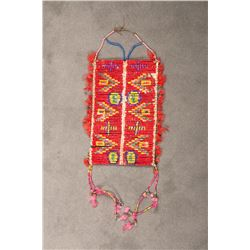 "Northern Plains Quilled Man's Breastplate, 15"" long x 9 ½"""