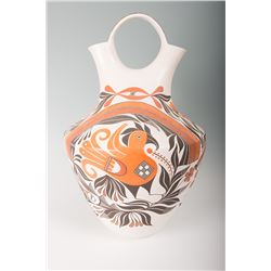 "Acoma Wedding Vase by Goldie Havah, 26"" tall x 17"""