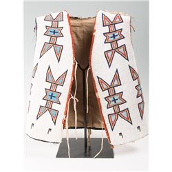 "Blackfeet Beaded Man's Vest, 19"" x 18"""
