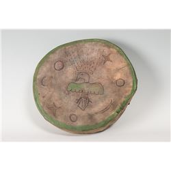 "Arapaho Ghost Dance Drum, 15 ½"" in diameter"