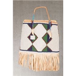 "Blackfeet Beaded Purse, 15"" long"
