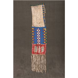 "Sioux Beaded and Quilled Pipebag, 18"" long"