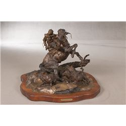 Michael Boyett, bronze on swivel base
