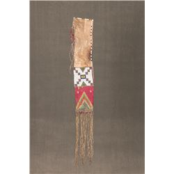 """Cheyenne Beaded and Quilled Pipebag, 44"""" long"""