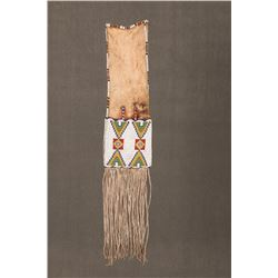 "Sioux Beaded and Quilled Pipebag, 30"" long"