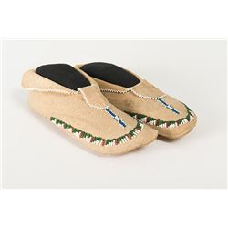"Apache Beaded Child's Moccasins, 8"" long"