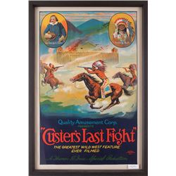 "Custer's Last Fight Movie Poster, 40"" x 26 ½"""