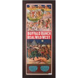 "Buffalo Ranch Real Wild West Movie Poster, 56"" x 21"""