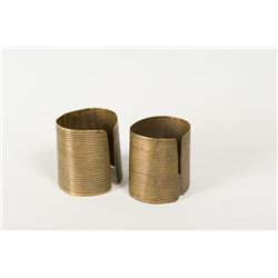 Striped Cloud's (Sioux) Brass Cuffs, 2 ½""