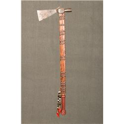 "Northern Plains Tacked Pipe Tomahawk, 23"" haft"