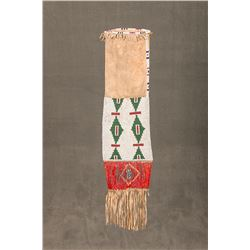 "Sioux Beaded and Quilled Pipe Bag,  22"" long"