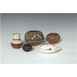 Collection of 5 Pottery Pieces