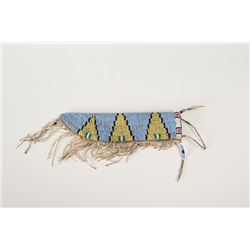 "Sioux Beaded Knife Case, 10 ½"" long"