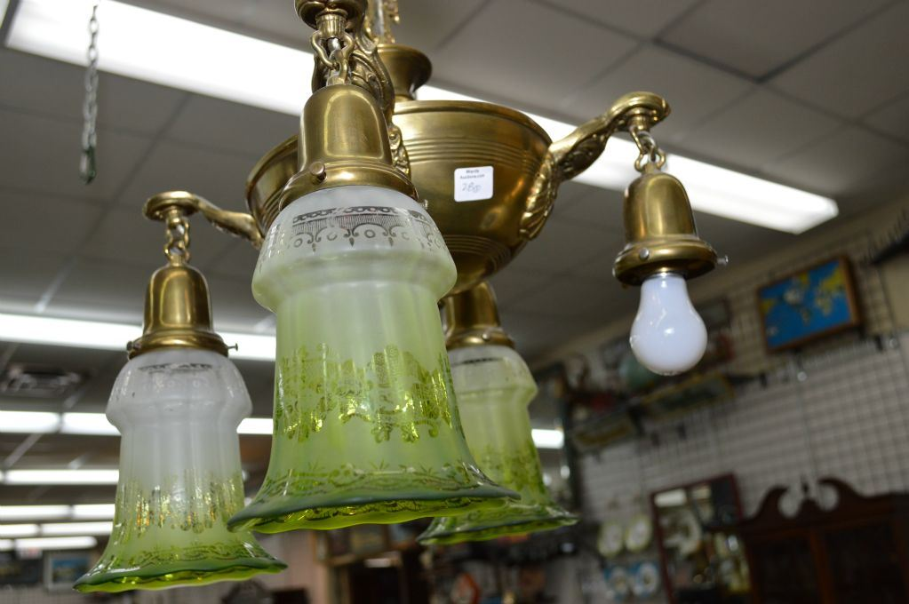Selection Of Bathroom Light Fixtures: Selection Of Vintage Light Fixtures Including Two Ceiling