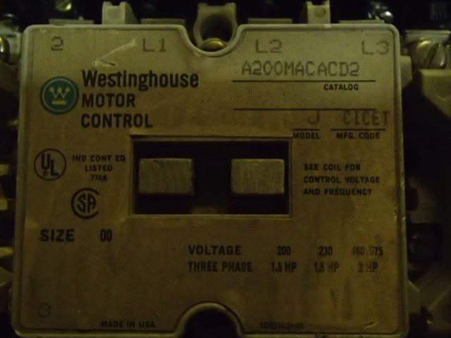 Lot Of Westinghouse Motor Controls A200m1cacd2