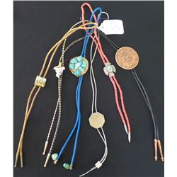 Collection of Six Native American Bolo Ties