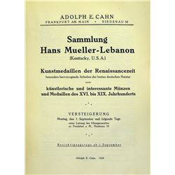 Cahn's Catalogue of the Mueller-Lebanon Sale