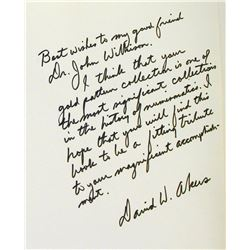 Dr. John Wilkison's Inscribed Copy of Akers on Pattern Gold
