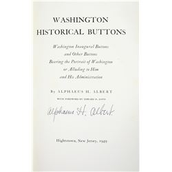 Albert on Washington Inaugural Buttons