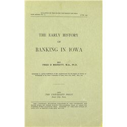 Early Banking in Iowa