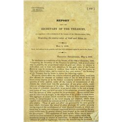 1830 Government Report on Gold & Silver