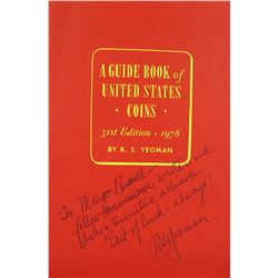 """Signed """"R.S. Yeo"""" Letter with Inscribed """"Mr. Red Book"""" Booklet"""