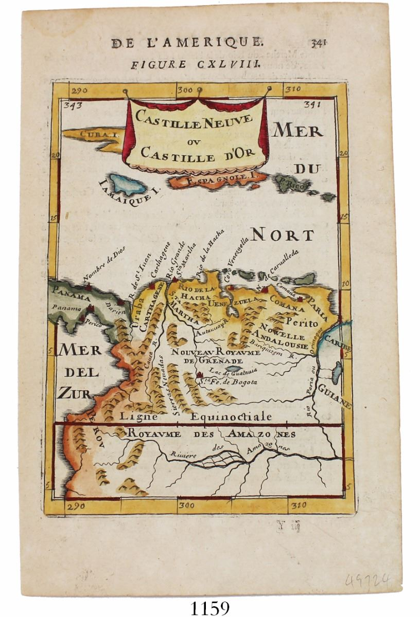 Small French Copperplateengraved Map Of The Southern Caribbean - Southern caribbean map