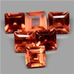 LOT OF 4.21 CT REDDISH ORANGE AFRICAN GARNET
