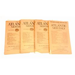 "LOT OF 4 1909-1910 ""ATLANTIC MONTHLY' MAGAZINE"