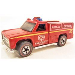 VINTAGE HOT WHEELS RED LINE FLYING COLORS EMERGENCY UNIT