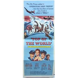 """1955 """"TOP OF THE WORLD"""" INSERT MOVIE POSTER"""
