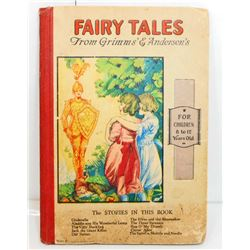 """1800S """"FAIRY TALES FROM GRIMMS & ANDERSENS"""" HARDCOVER BOOK"""