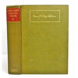 """1916 """"THE COMPLETE POETICAL WORKS OF HENRY WADSWORTH LONGFELLOW"""" HARDCOVER BOOK"""
