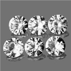 LOT OF 1.18 CTS OF DIAMOND CUT NATURAL WHITE ZIRCON