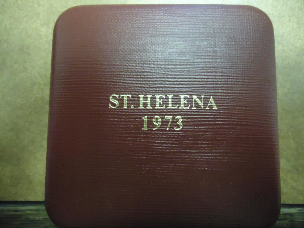 1973 St Helena 25 Pence Silver Proof Tercentenary Of The