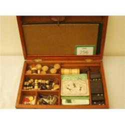 Early 20c compendium of games in mahogany box…