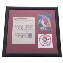 Back To The Future 2 - Prop Pizza Hut Wrapper & You're Fired Fax - 17734