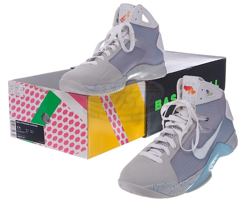 0936fb32567 ... Back To The Future 2 - Rare Nike HyperDunk (Marty McFly Inspired) Shoes  ...