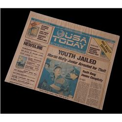 "Back To The Future 2 - USA Today ""Hill Valley Edition"" Newspaper ""Youth Jailed"" - 18327"
