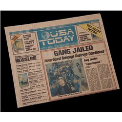 "Back To The Future 2 - USA Today ""Hill Valley Edition"" Newspaper ""Gang Jailed"" - 18328"