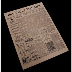 Back To The Future 3 - 1885 Hill Valley Telegraph Newspaper - 17667