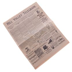 Back To The Future 3 - 1885 Hill Valley Telegraph Newspaper - 17682