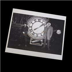 Back To The Future 3 - Doc & Marty Clock Photograph - 17662