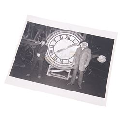 Back To The Future 3 - Doc & Marty Clock Photograph - 18011
